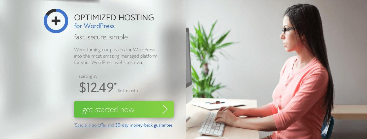 bluehost Hosting yang Dioptimalkan untuk wordpress